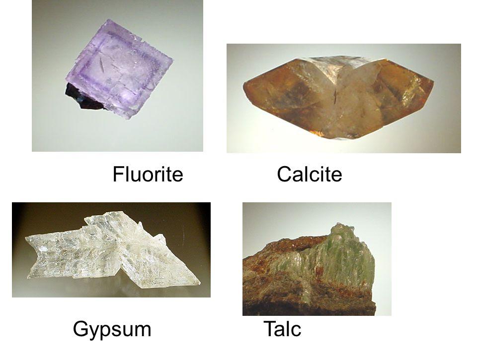 Fluorite Calcite GypsumTalc