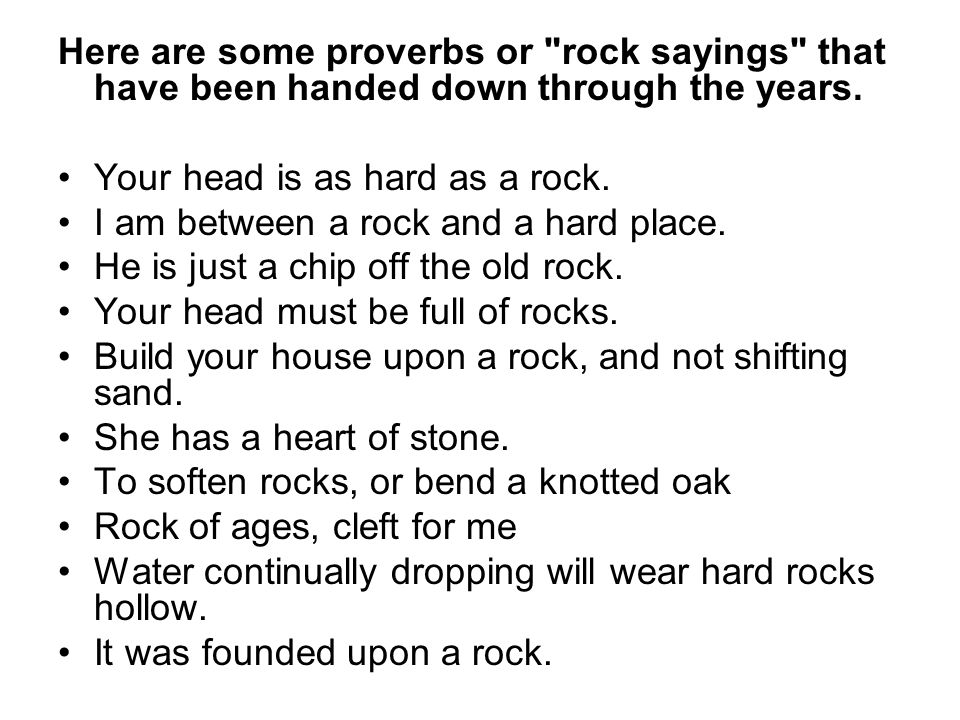 Here are some proverbs or