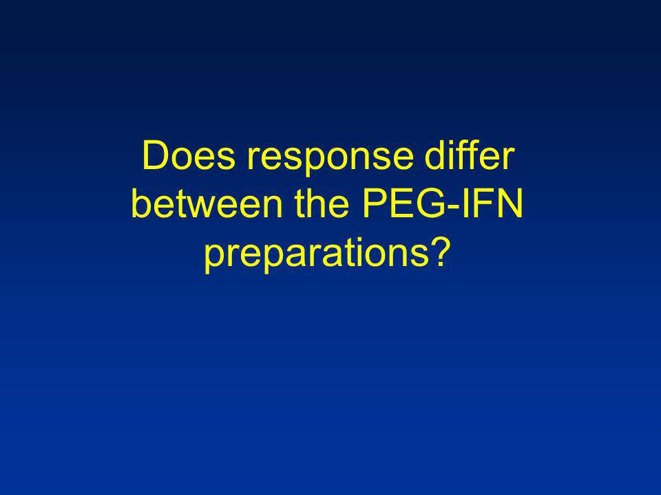 Does response differ between the PEG-IFN preparations