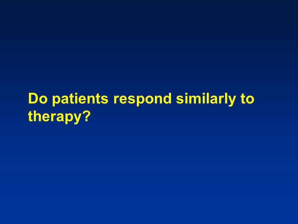 Do patients respond similarly to therapy