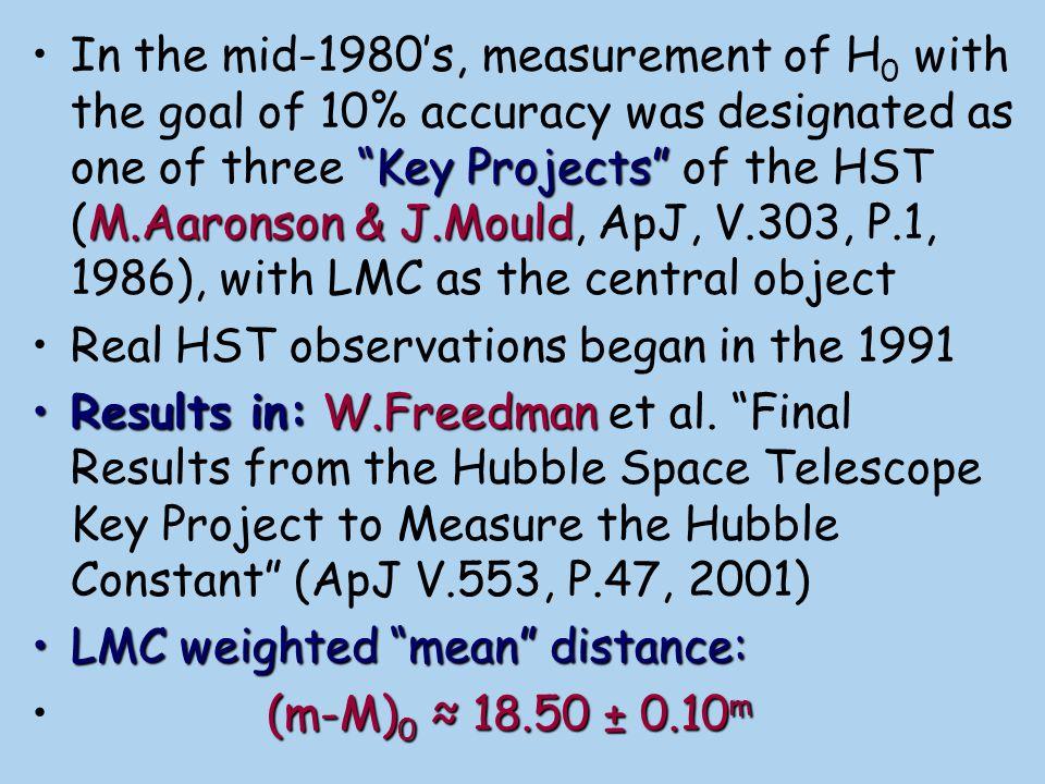 LMC distances from Cepheids: ΔM ≈ 0.6 m (m-M) 0