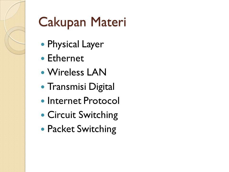 Physical Layer Media transmisi dalam jaringan Jenis: ◦ Twisted pair ◦ Coaxial ◦ Fiber optic ◦ Wireless