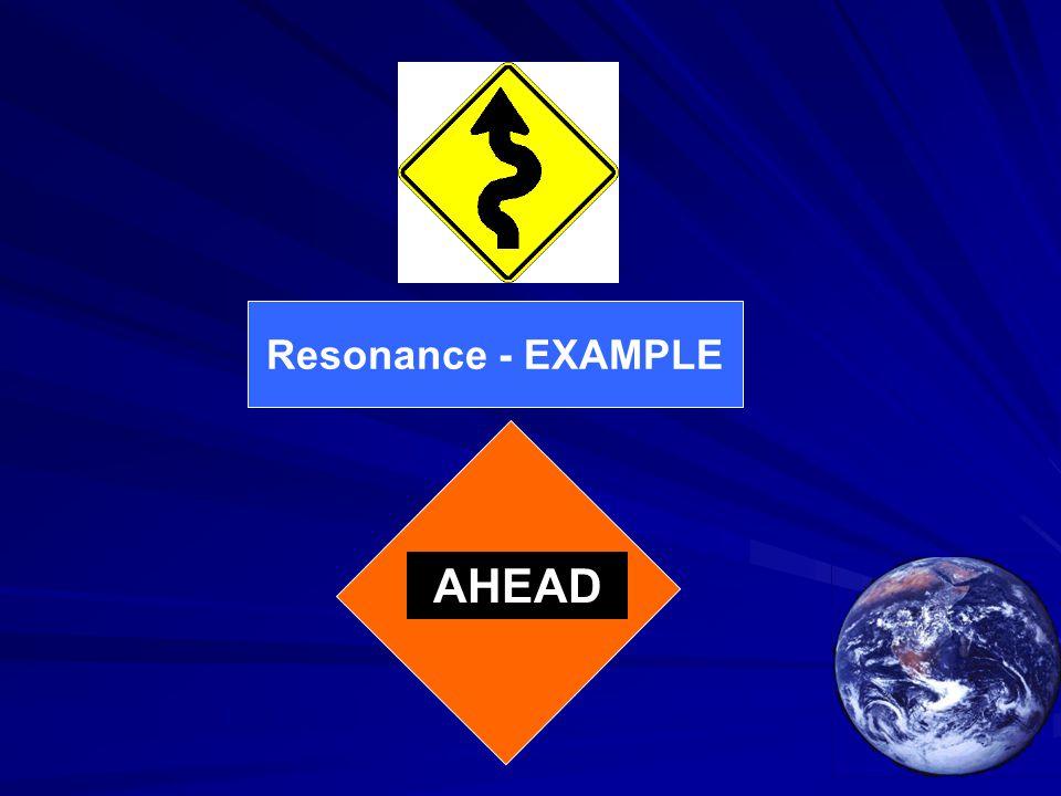 Resonance - EXAMPLE AHEAD