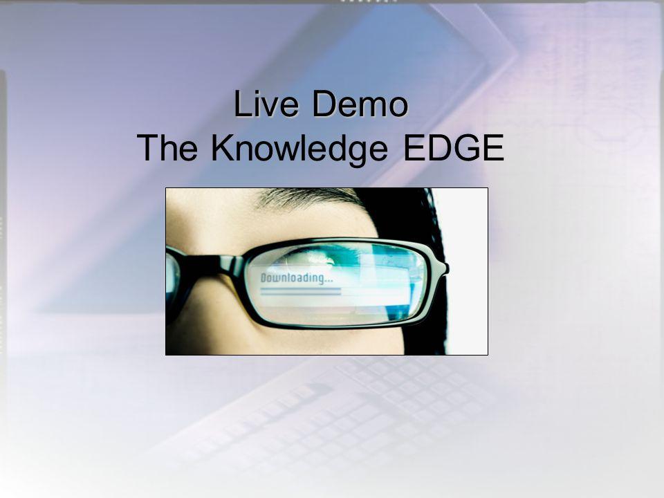 Live Demo Live Demo The Knowledge EDGE