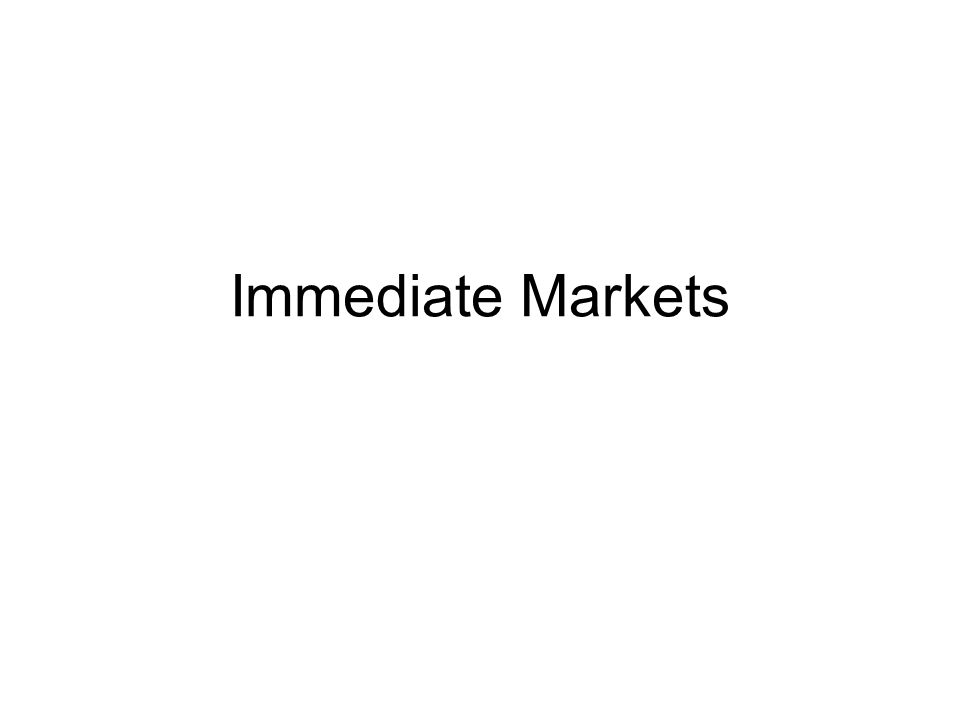Immediate Markets