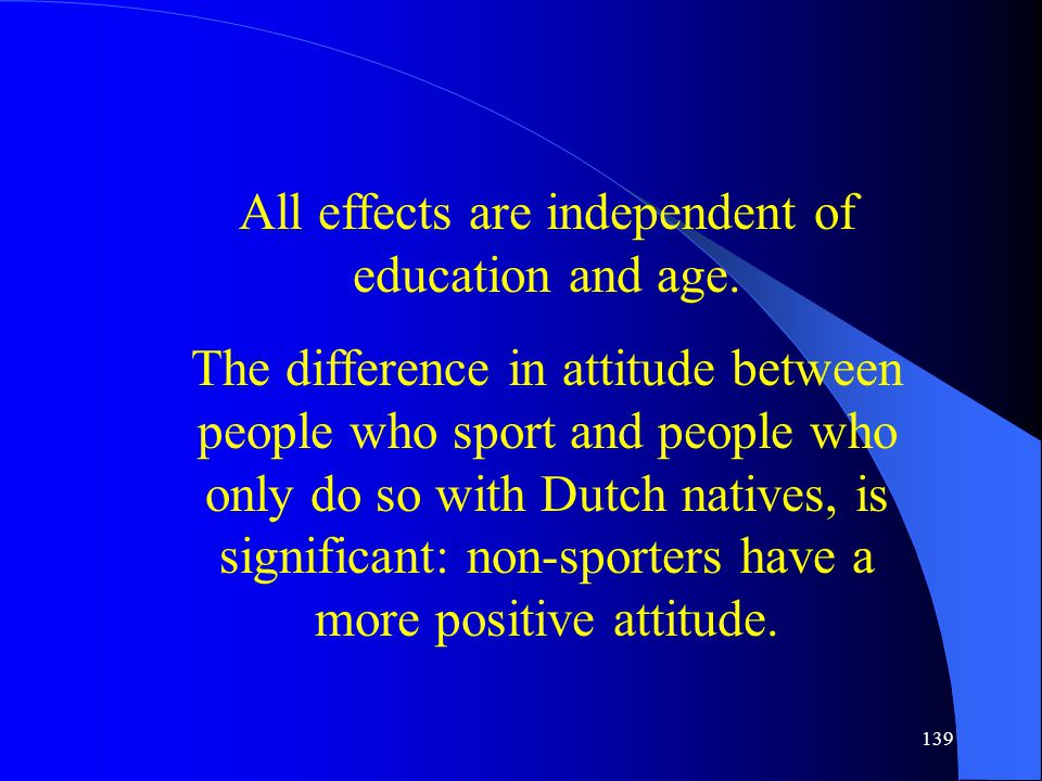 139 All effects are independent of education and age.