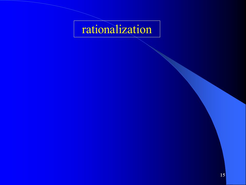 15 rationalization