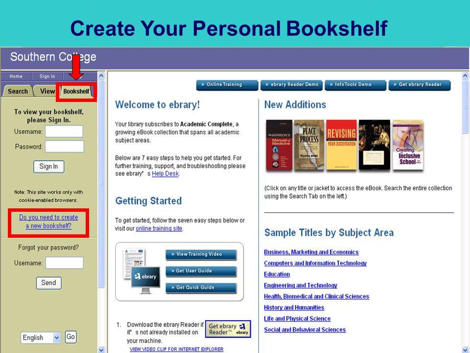 Create Your Personal Bookshelf