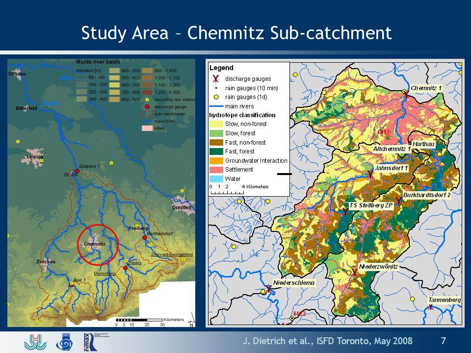 Study Area – Chemnitz Sub-catchment J. Dietrich et al., ISFD Toronto, May 20087