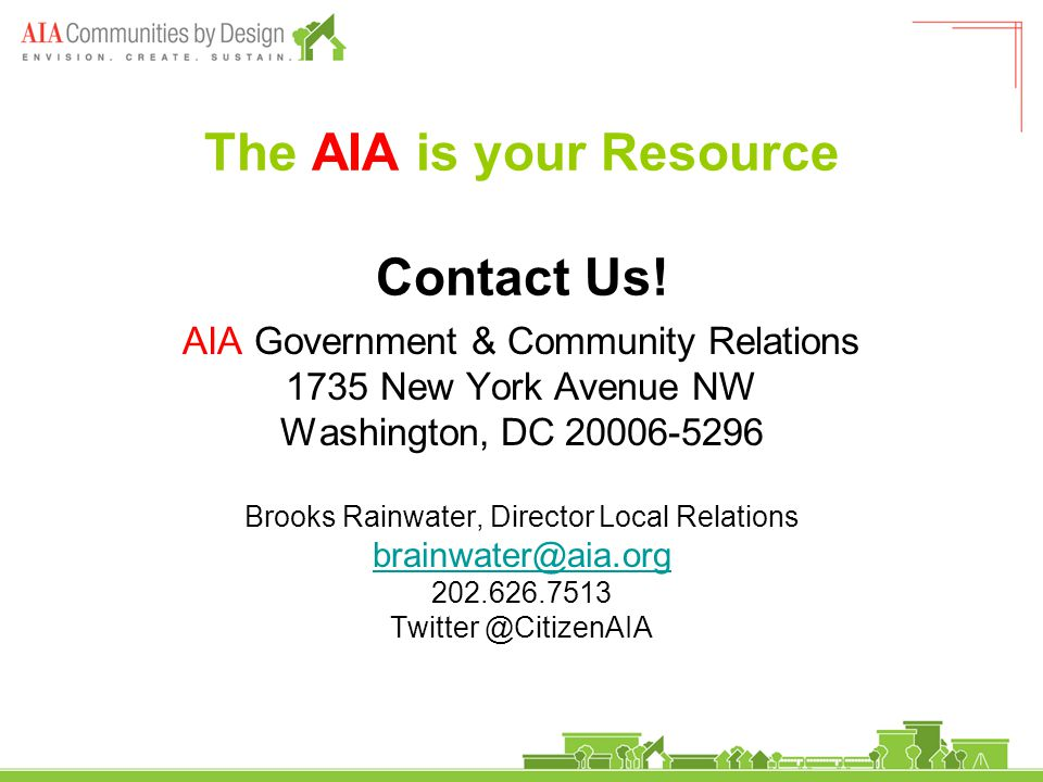 The AIA is your Resource Contact Us.