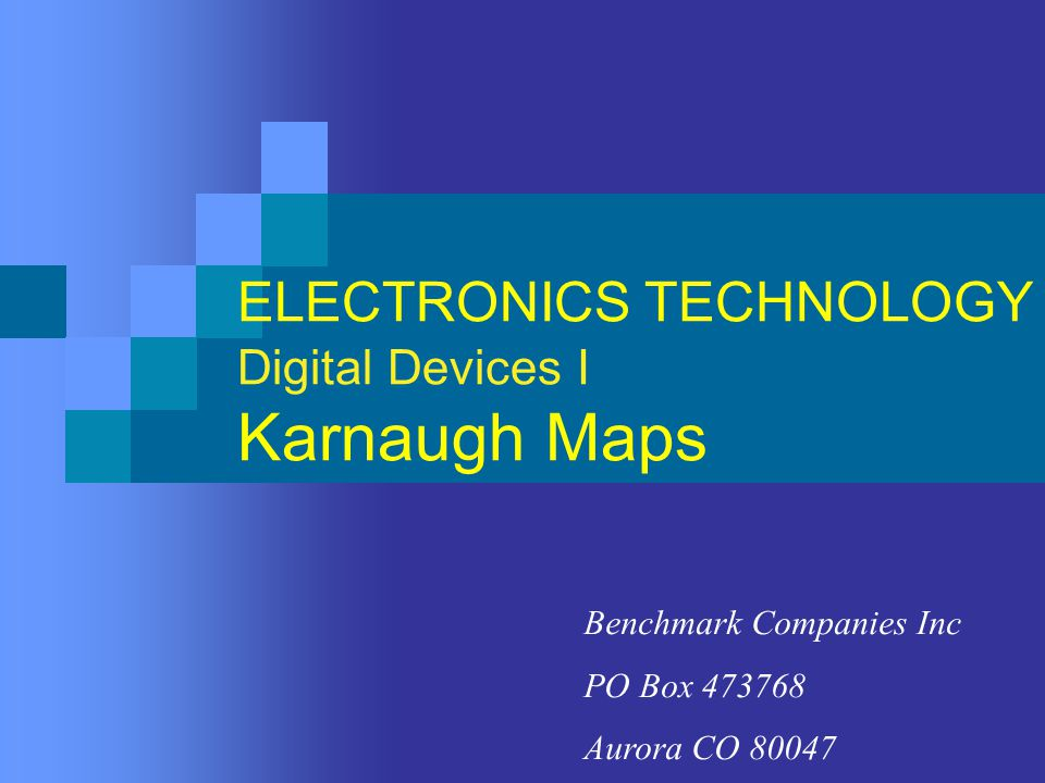 Karnaugh Maps Part 1: Introduction Karnaugh maps provide an alternative technique for representing Boolean functions.