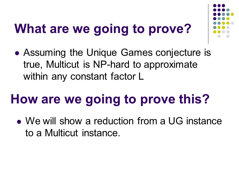 What are we going to prove.