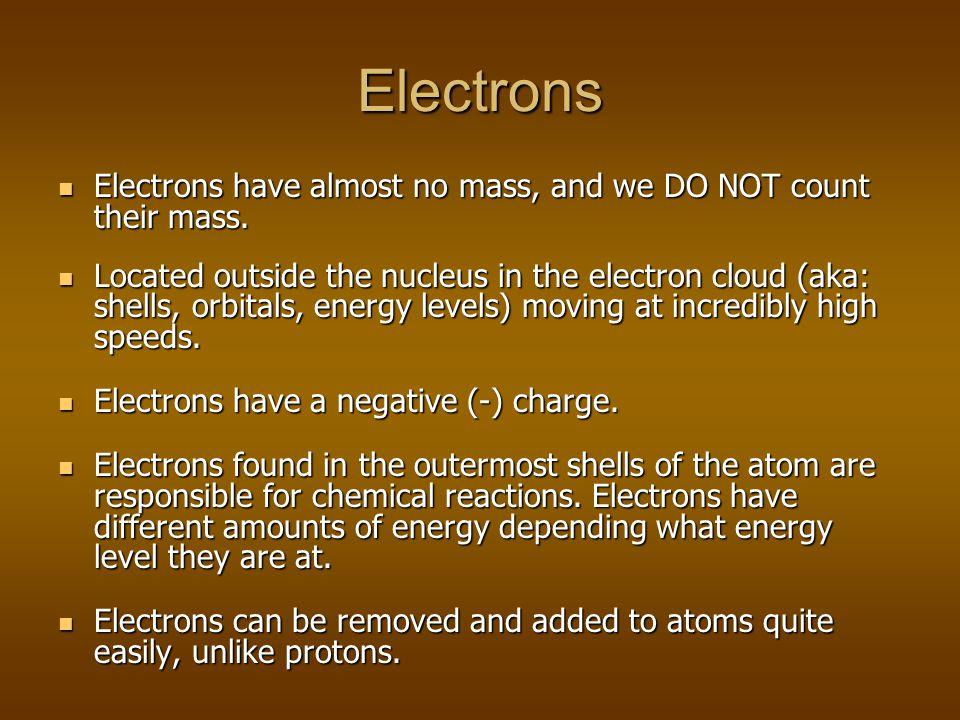 The Neutron The neutron adds mass (1 amu) to an atom but has NO charge The neutron adds mass (1 amu) to an atom but has NO charge Atoms of the same el