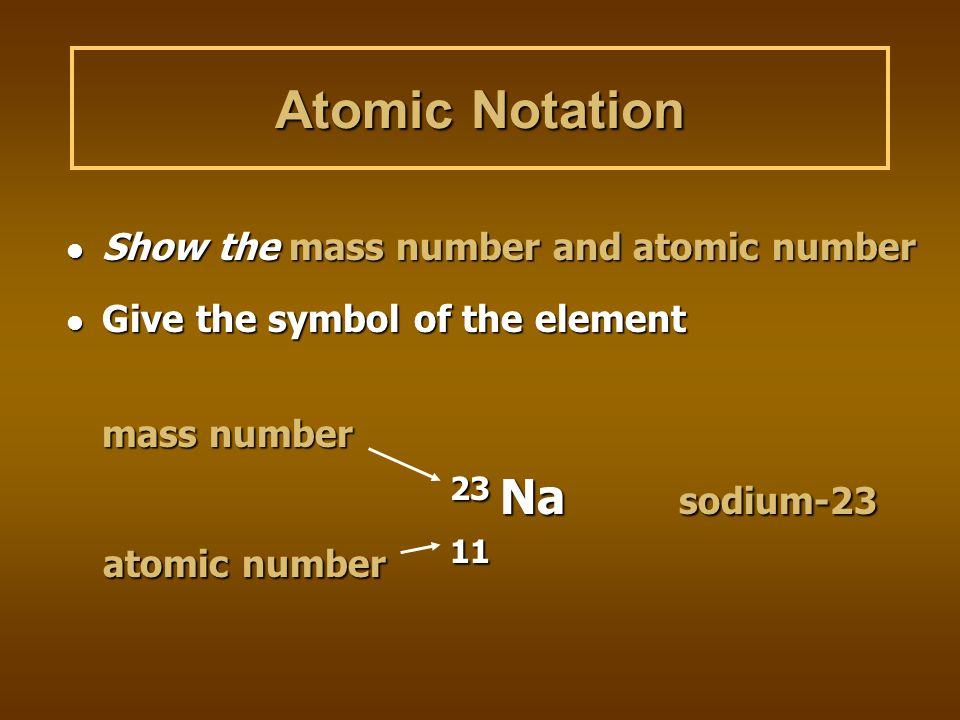 Mass Number Counts the number of protons and neutrons in an atom (note: Atomic Mass is different from Mass Number. On your periodic table of elements,