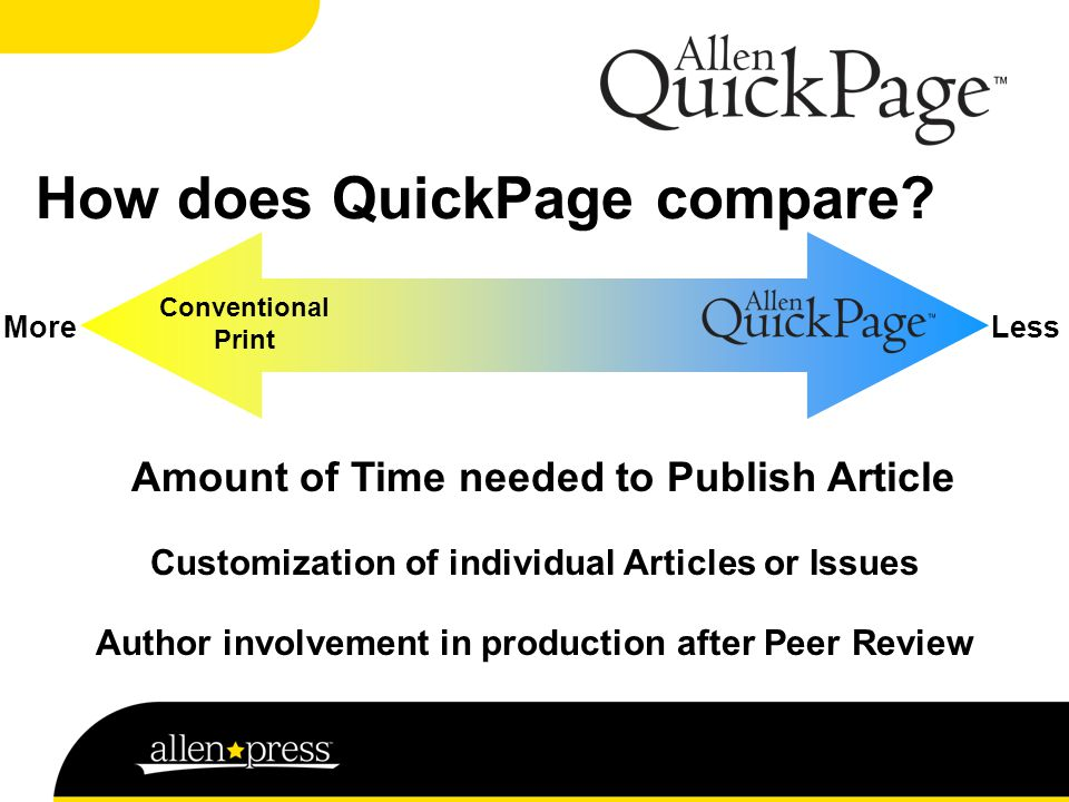 How does QuickPage compare.