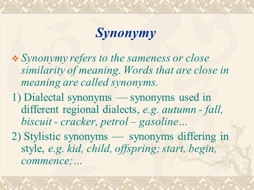 5.3.2 Major sense relations  Synonymy Synonymy  AntonymyAntonymy  PolysemyPolysemy  HomonymyHomonymy  HyponymyHyponymy