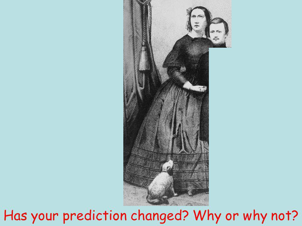 Has your prediction changed Why or why not