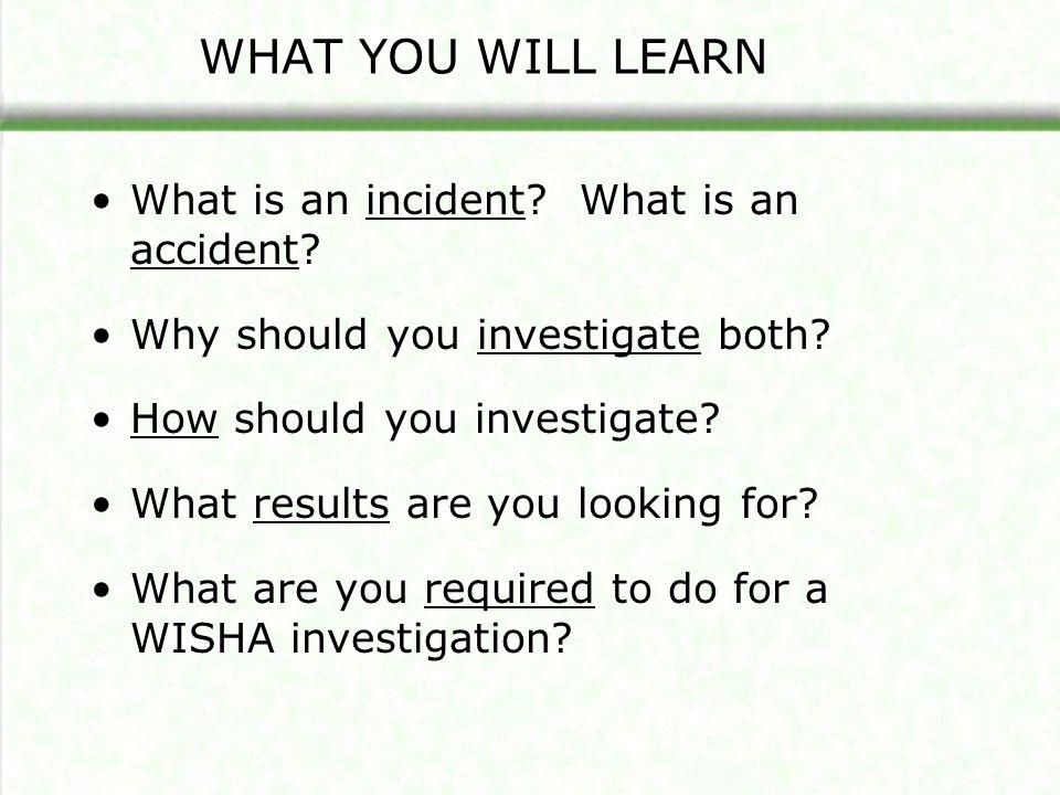 What Is An Incident.