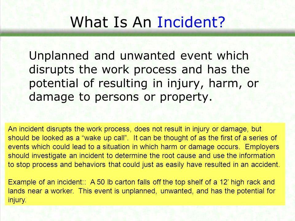What Is An Accident.