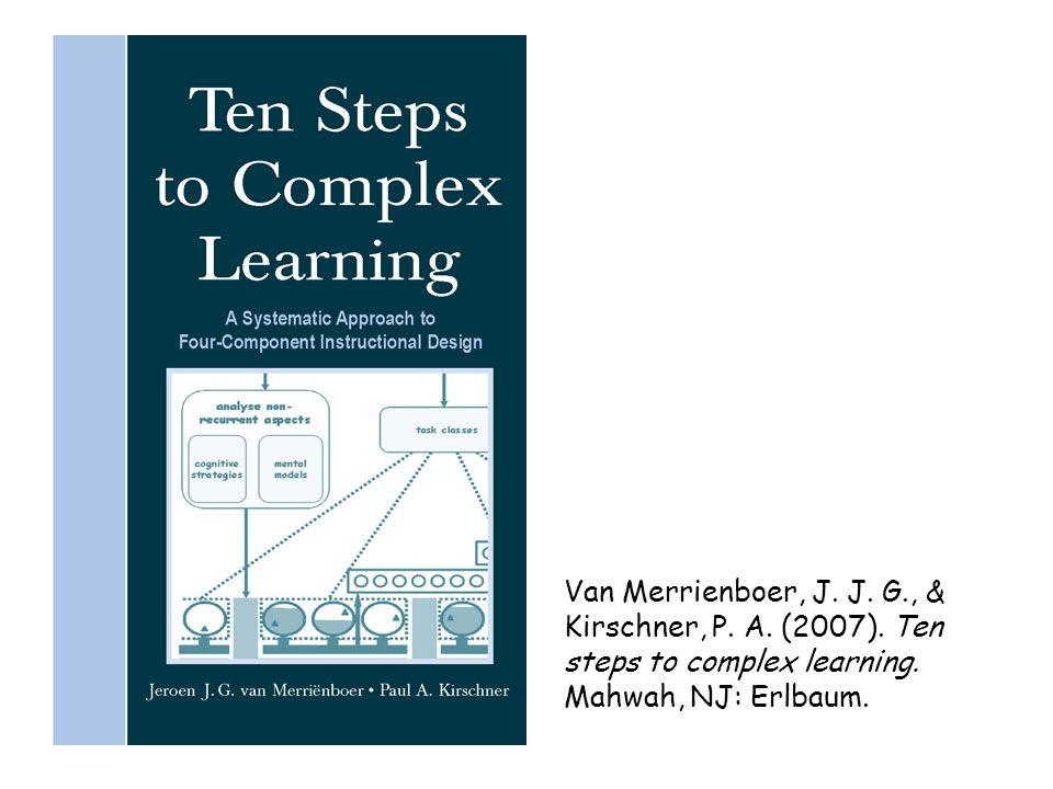Van Merrienboer, J.J. G., & Kirschner, P. A. (2007).