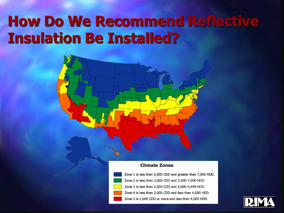 How Do We Recommend Reflective Insulation Be Installed?