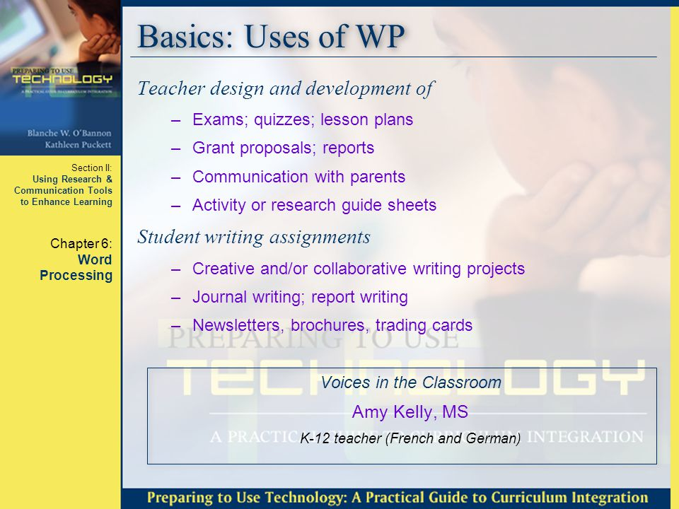 Section II: Using Research & Communication Tools to Enhance Learning Chapter 6: Word Processing Questions???