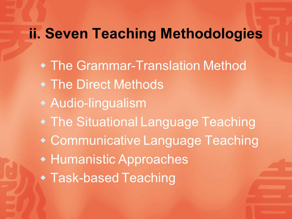 Ⅰ.Introduction i. What Is Teaching Method.