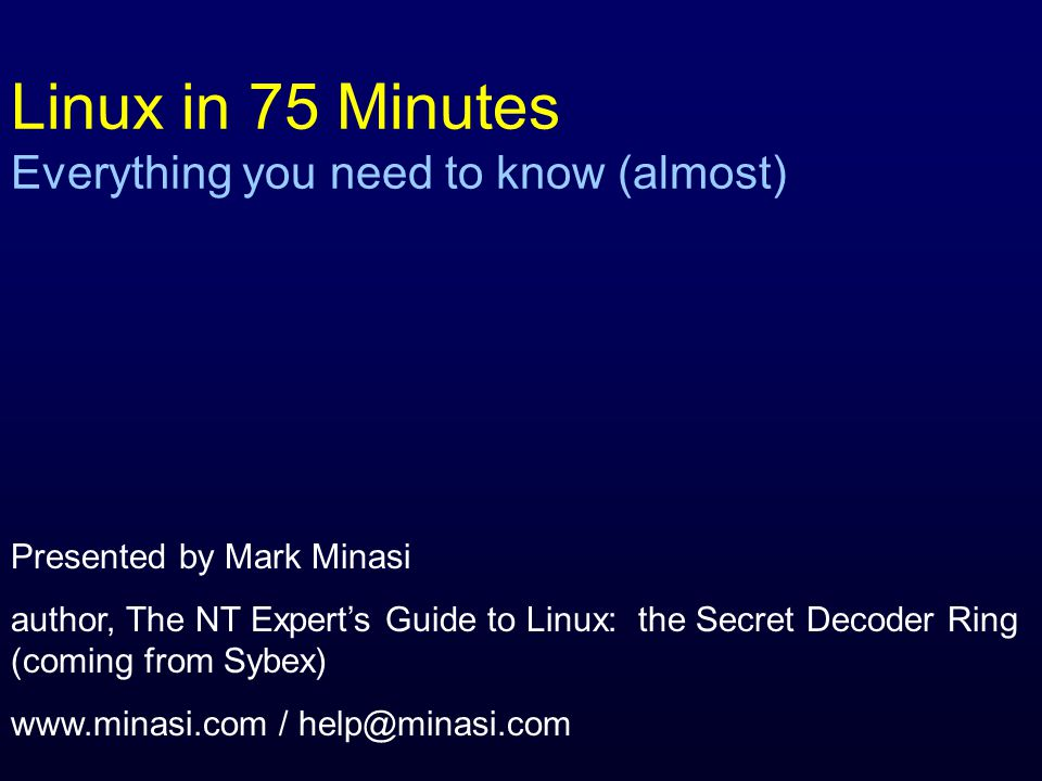 What this talk is all about As an NT and Windows 2000 networking professional, I've spent the past seven years doing most of my networking work with NT and now with 2000.