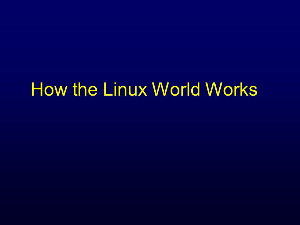 The Linux World why it's linnix, not line-ix n In the late 80's a writer built a free micro-Unix for teaching called Minix ( minn-icks ) n Linus Torvalds decided to build a Minix n But realized he wanted to do more n So he re-named it Linux n Original Linux very basic, no networking even