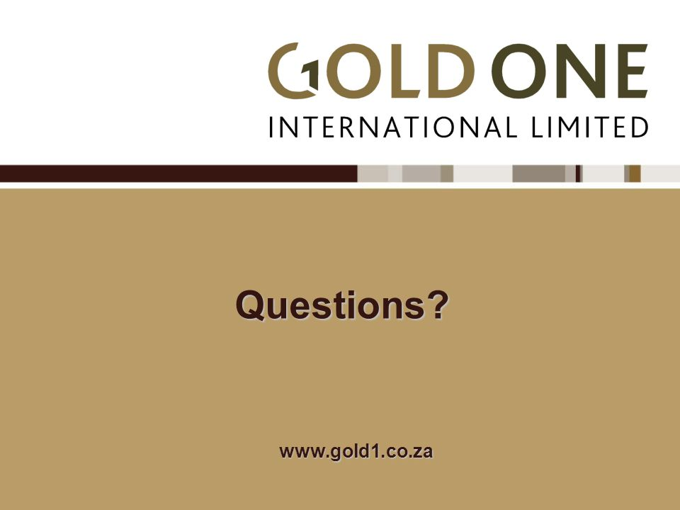 Questions www.gold1.co.za
