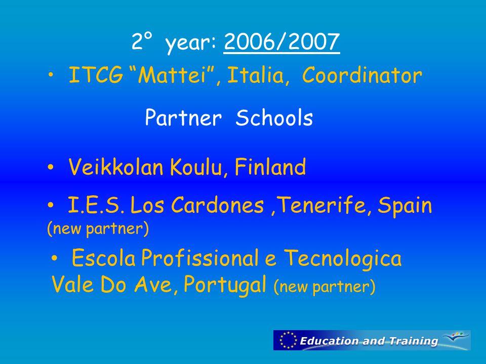 ITCG Mattei , Italia, Coordinator Partner Schools Veikkolan Koulu, Finland I.E.S.