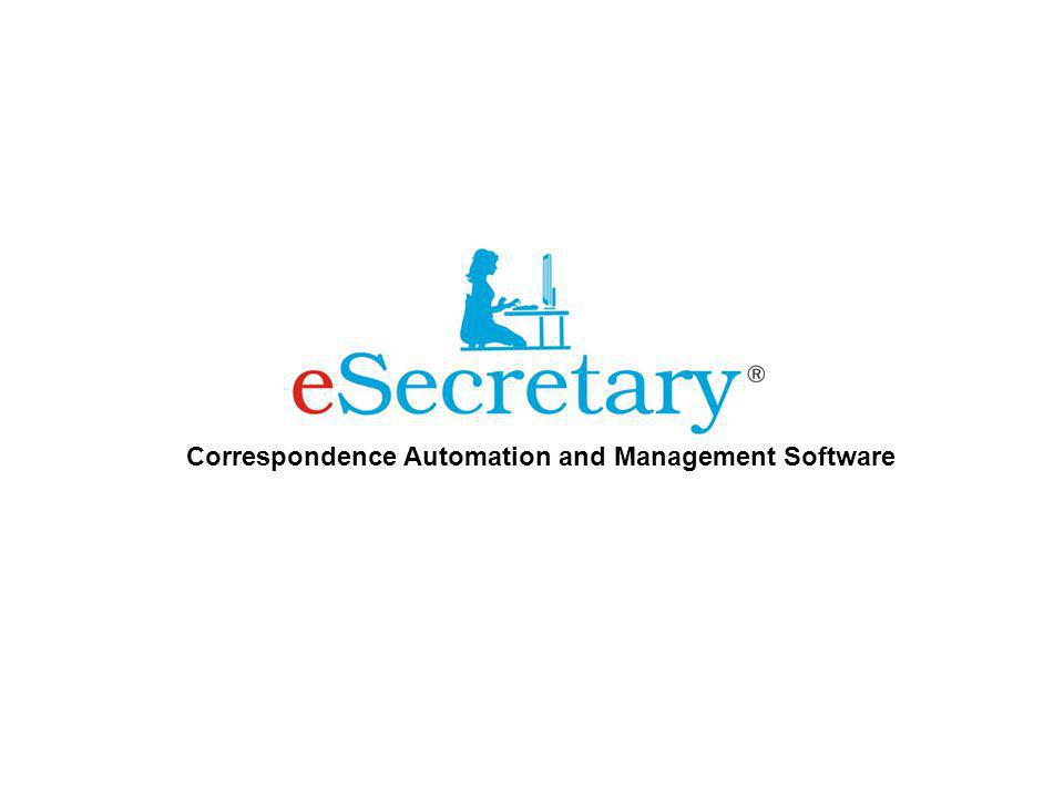 Correspondence Automation and Management Software