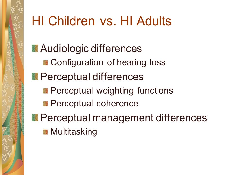 Normal-Hearing Adults Short-Term Audibility Performance w/ transition w/o transition Results