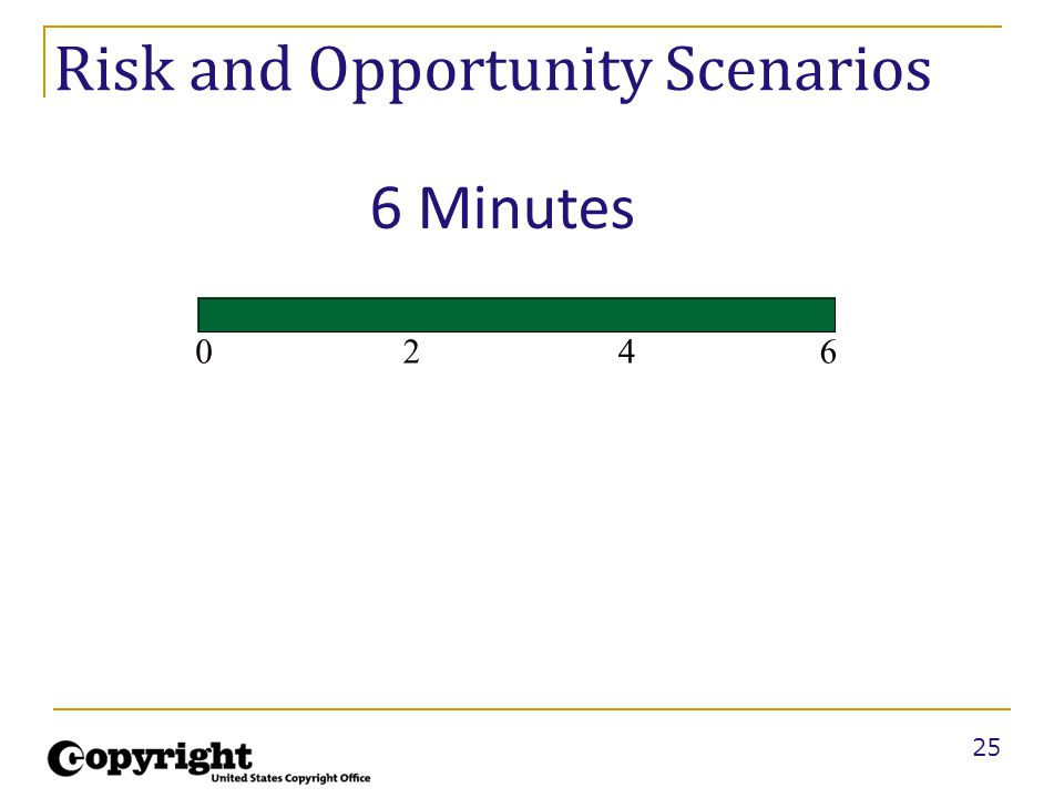 25 Risk and Opportunity Scenarios 2460 6 Minutes