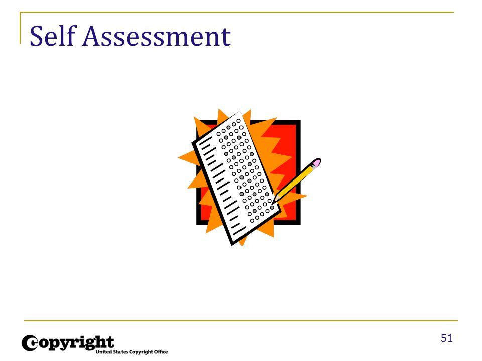 51 Self Assessment