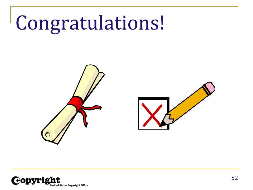 52 Congratulations!