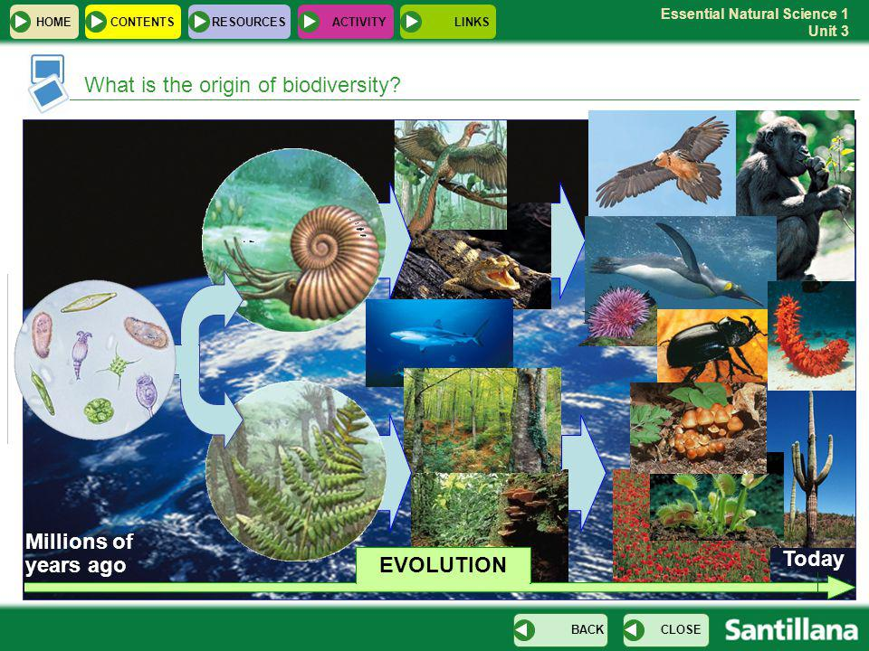 Essential Natural Science 1 Unit 3 What is the origin of biodiversity.