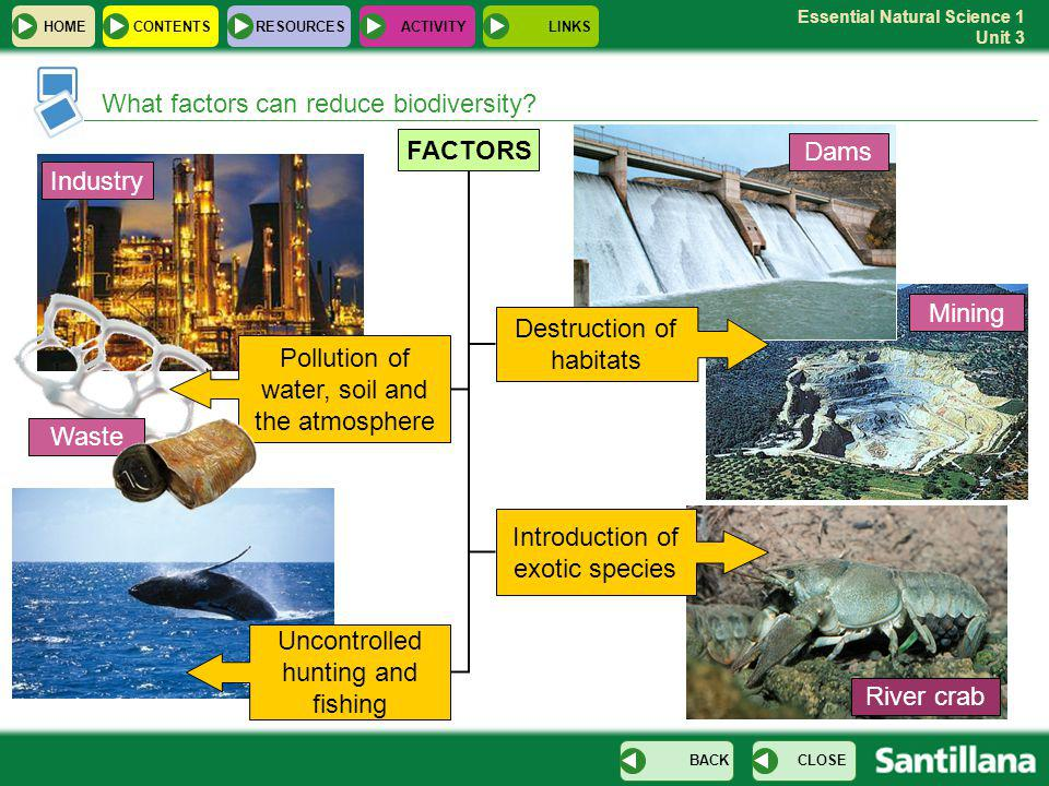 Essential Natural Science 1 Unit 3 What factors can reduce biodiversity.