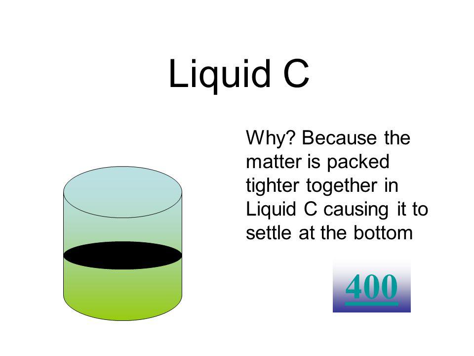 Which liquid has a greater density? Liquid A Liquid B Liquid C