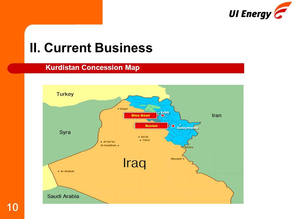 10 II. Current Business Kurdistan Concession Map