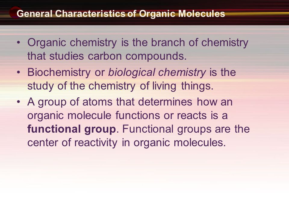 Origin of organic compounds Origin of organic compounds Naturally occurring organic compounds are found in plants, animals, and fossil fuels All of these have a plant origin All of these rely on the fixing of C from CO 2 Synthetic organic compounds are derived from fossil fuels or plant material