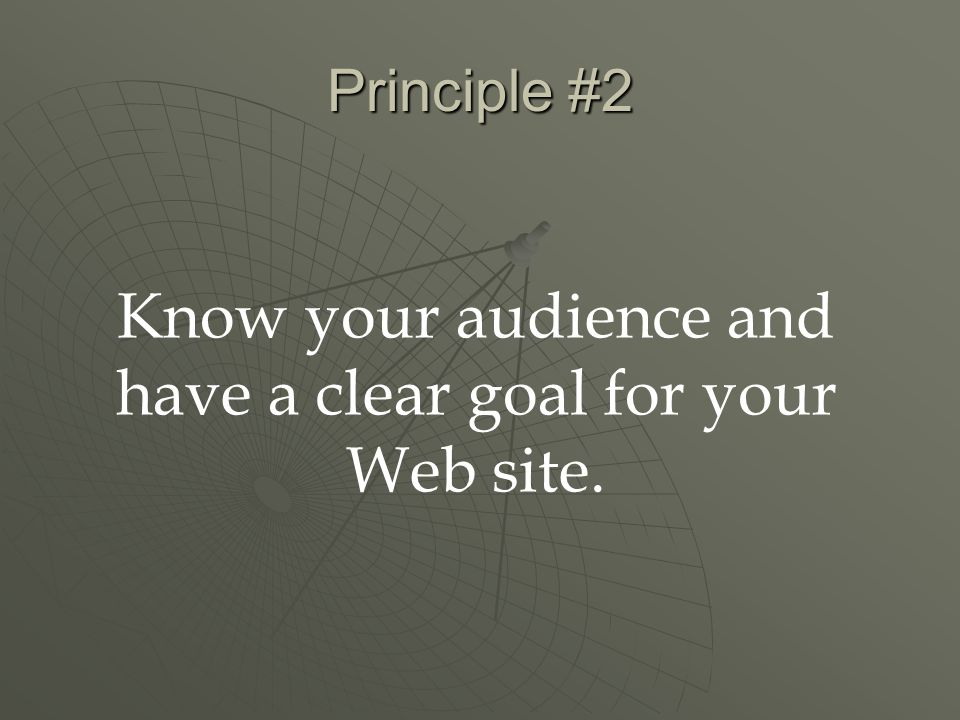 Principle #3 Don't post an under construction graphic after you've published your URL.