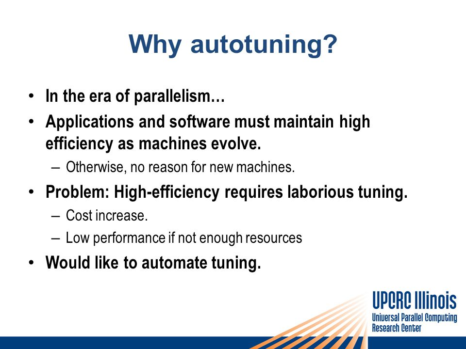 Why autotuning.
