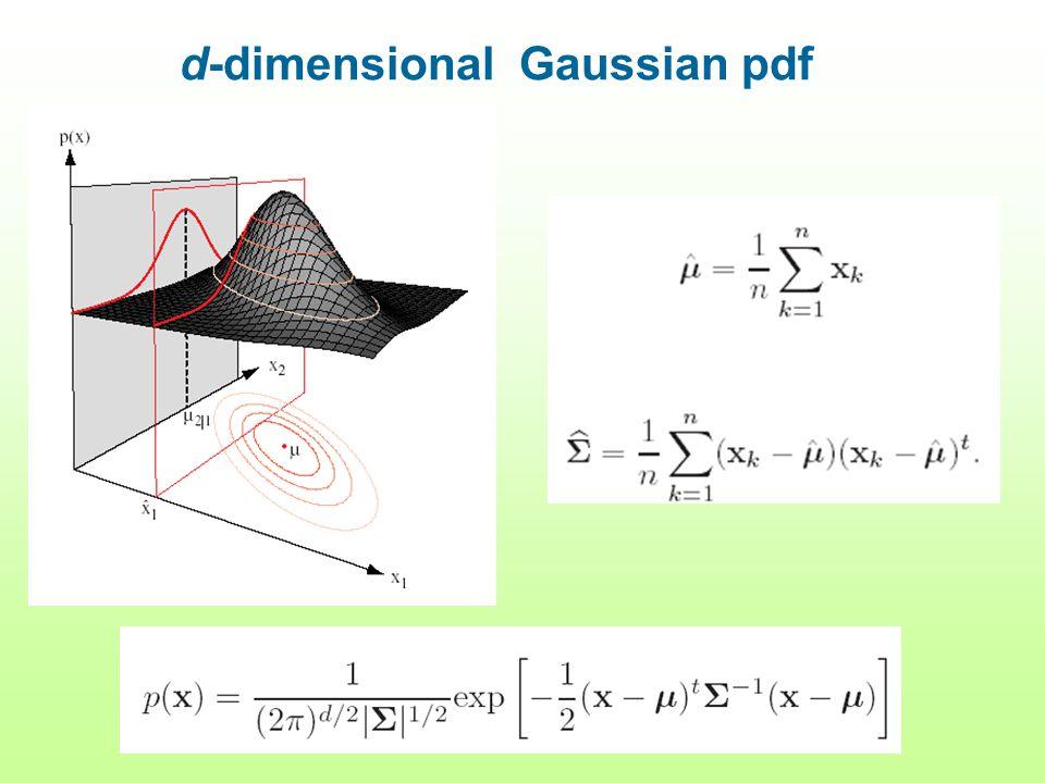 d-dimensional Gaussian pdf