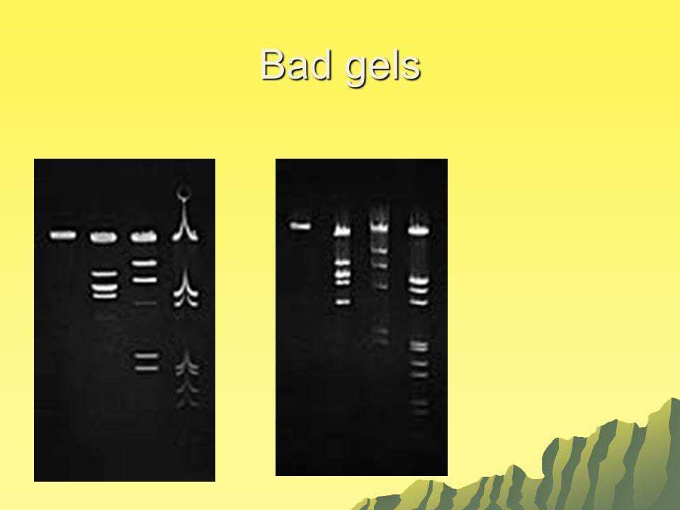 Bad gels