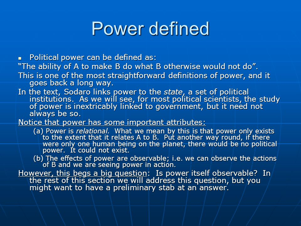 Steps to measuring power What conclusion can we draw from this chapter.