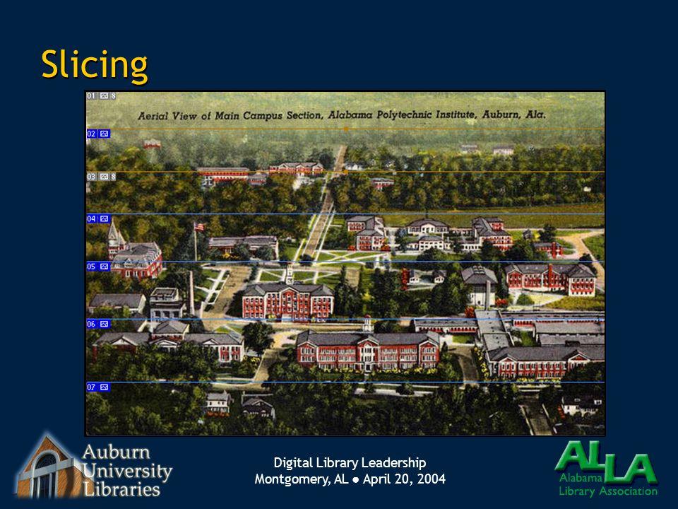 Digital Library Leadership Montgomery, AL ● April 20, 2004 Slicing
