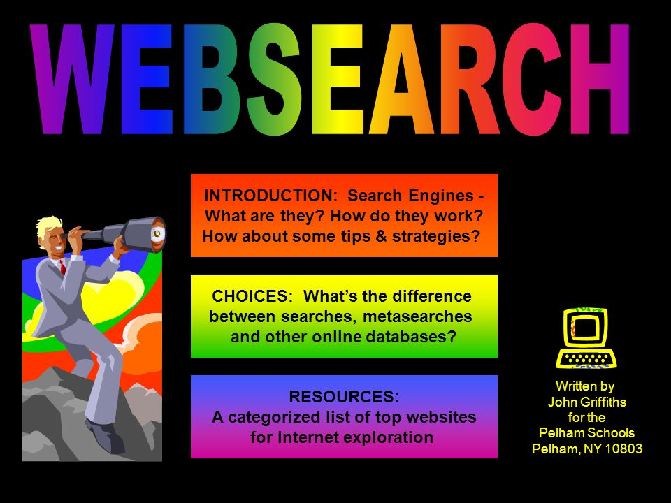 INTRODUCTION: Search Engines - What are they. How do they work.