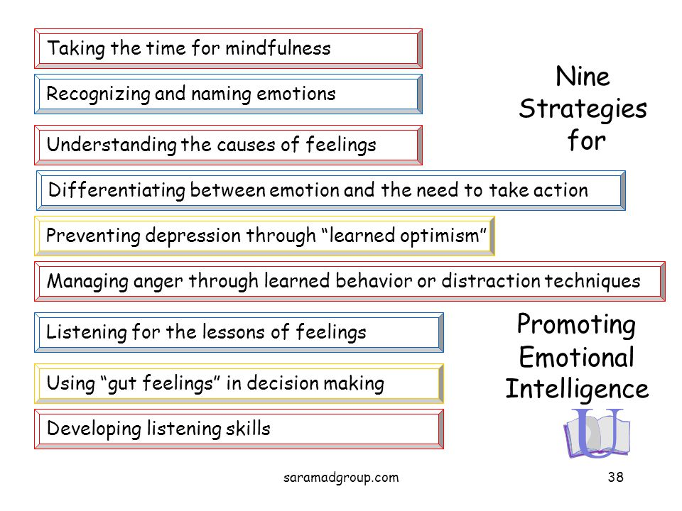 Nine Strategies for Taking the time for mindfulness Recognizing and naming emotions Understanding the causes of feelings Differentiating between emoti