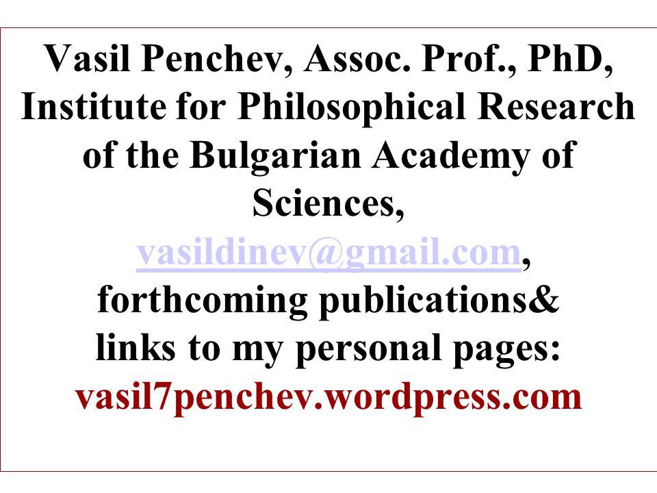 Vasil Penchev, Assoc.